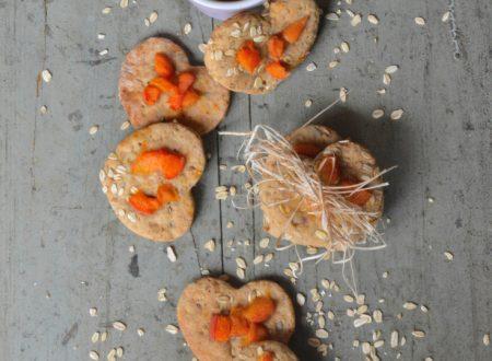 Biscotti integrali ai fiocchi d'avena e albicocche