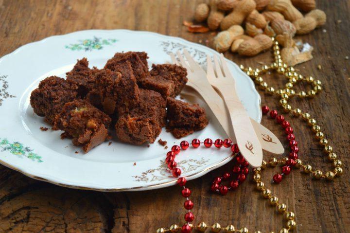 Brownies con pandoro riciclato