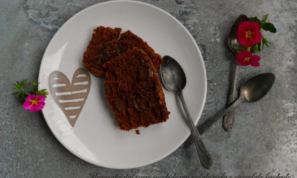 Plumcake con patate viola e cioccolato fondente