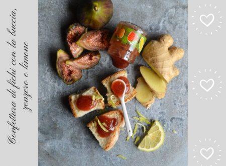 Confettura di fichi con la buccia, zenzero e limone