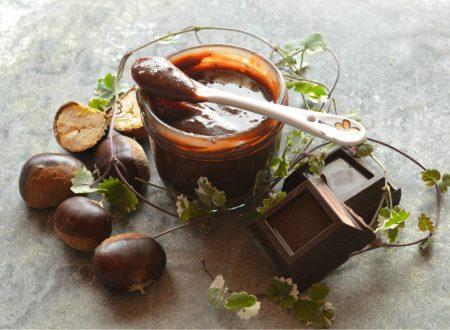 Crema spalmabile di castagne e cioccolato fondente | Ricetta senza latte e senza frutta secca