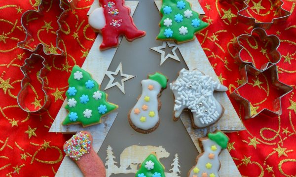 Biscotti di Natale decorati da appendere all'albero| Idea regalo biscotti di Natale decorati
