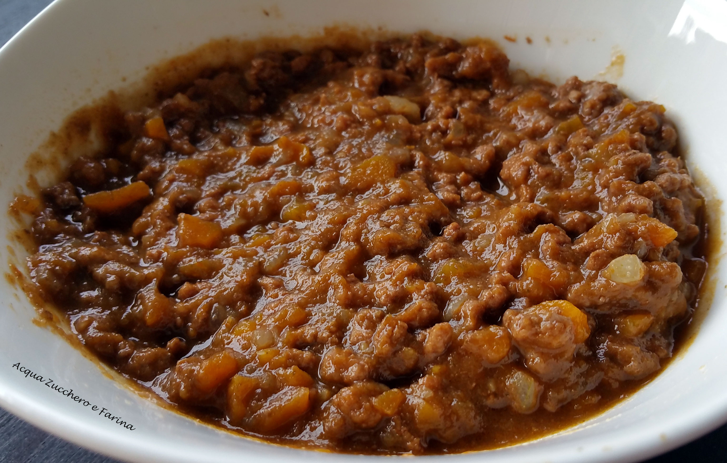 Ricetta Ragu Kenwood.Ragu Semplice Preparazione Con Il Cooking Chef Acqua Zucchero E Farina