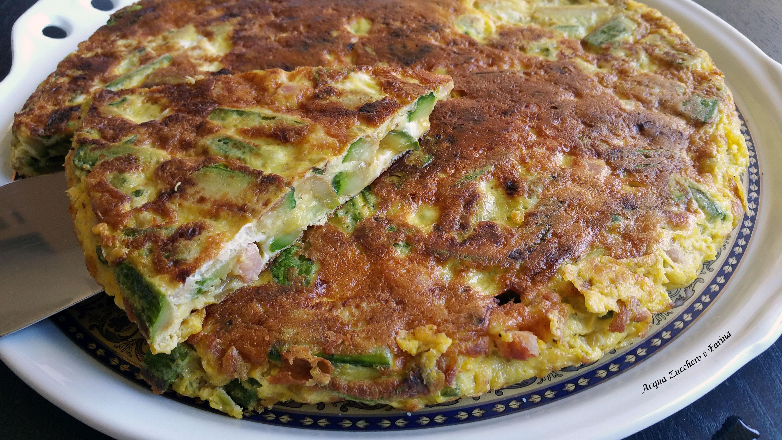 Frittata zucchine e pancetta affumicata