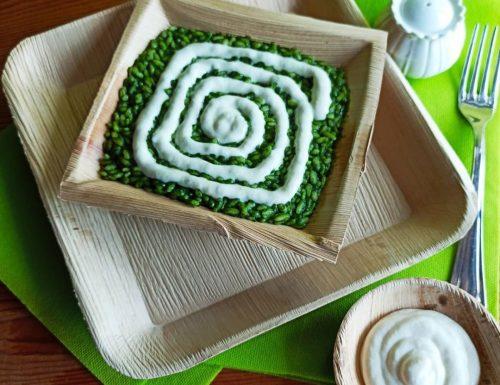 Risotto con spinaci e fonduta di parmigiano