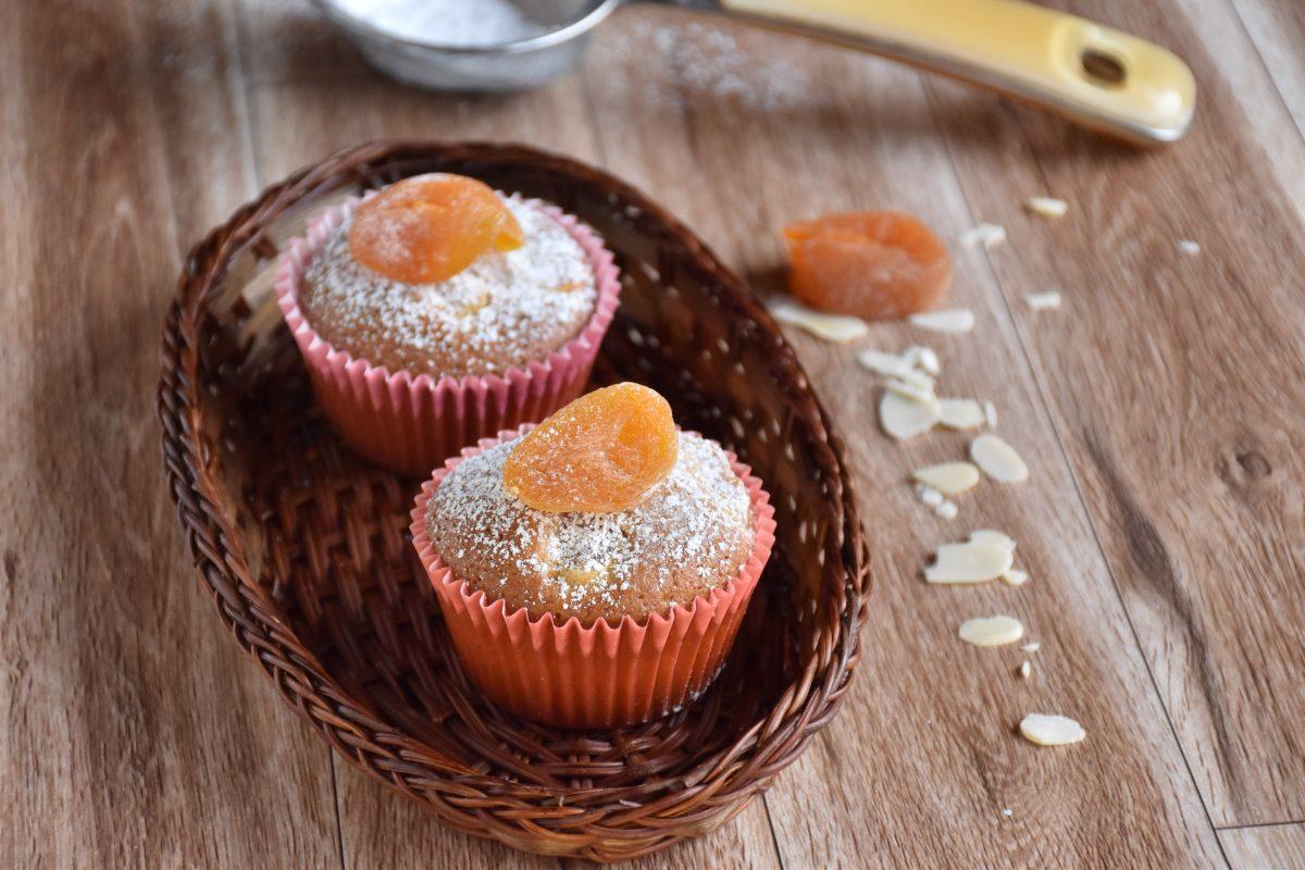 muffin integrali con albicocche secche