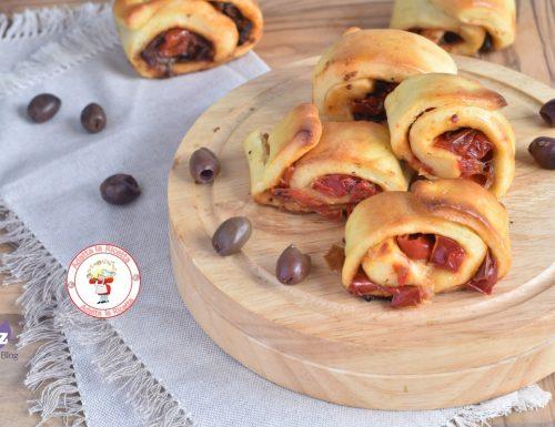 Rotolini di pan brioche ai peperoni ricetta Bimby