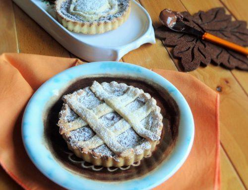 Crostatine al Cioccolato con pasta frolla senza uova