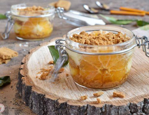 Trifle di clementine con crema al latte di mandorle