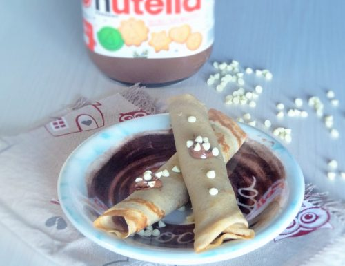 Crepes arrotolate alla nutella con farina integrale