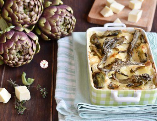 Lasagne con carciofi taleggio e besciamella gustosa