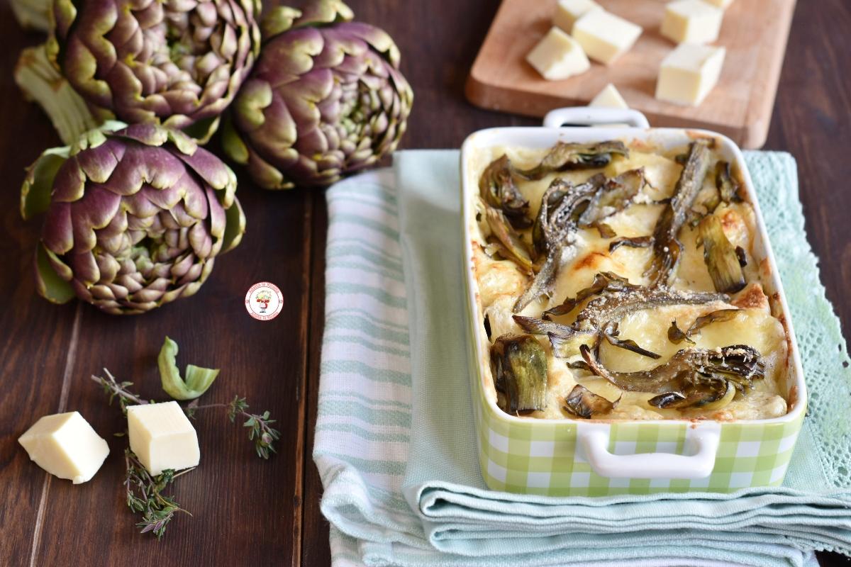 lasagne ai carciofi con besciamella gustosa