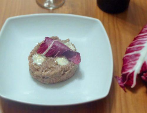 Risotto leggero con radicchio e gorgonzola Bimby