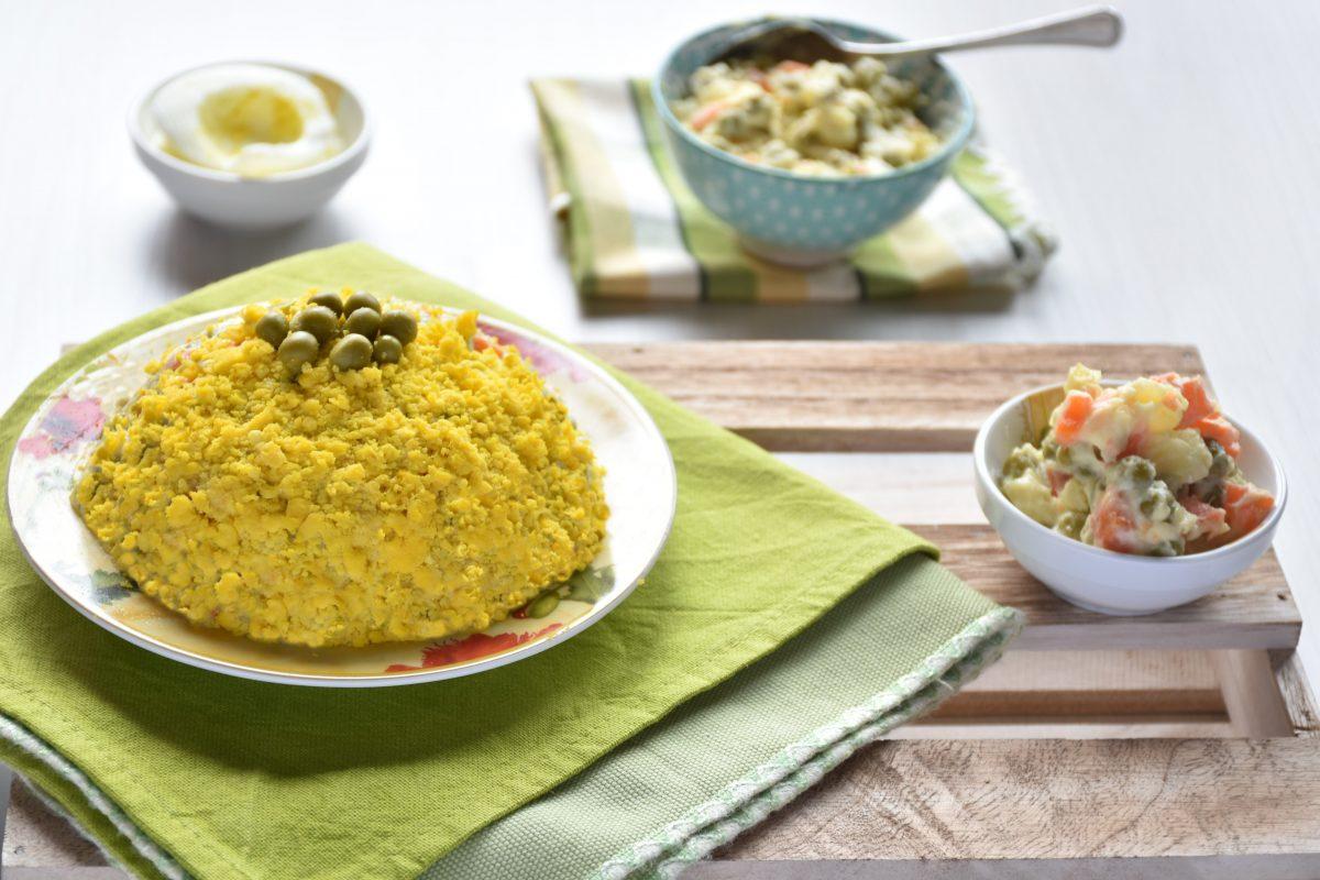 Mimosa di insalata russa veloce ed economica