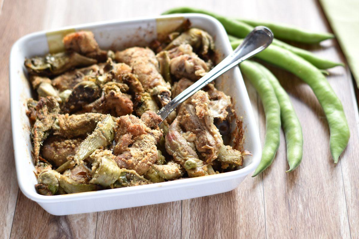 agnello al forno con carciofi e fave facile e veloce