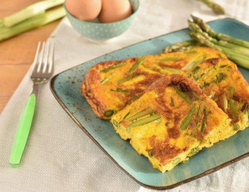 Frittata di asparagi e basilico al forno