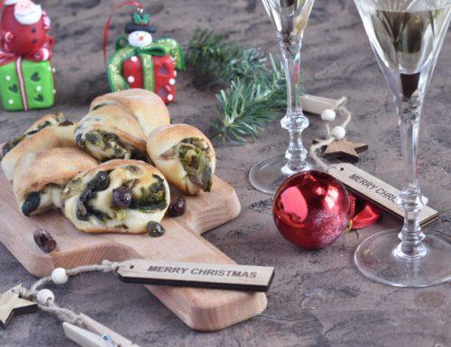 Finger Food natalizio di pizza di scarola napoletana