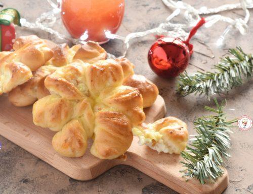 Fiore di pan brioche con ricotta e arancia candita
