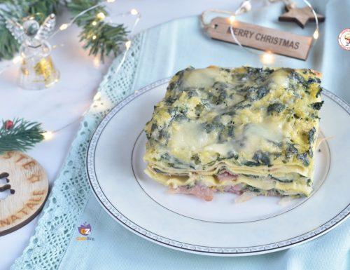 Lasagne bianche con verdure e prosciutto cotto