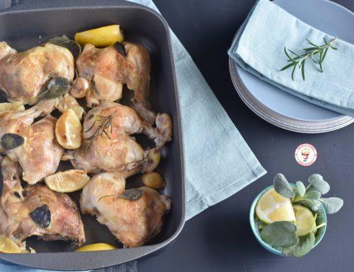 Cosce di pollo arrosto con limoni
