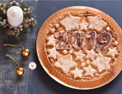 Crostata con crema e marmellata di arance per il nuovo anno