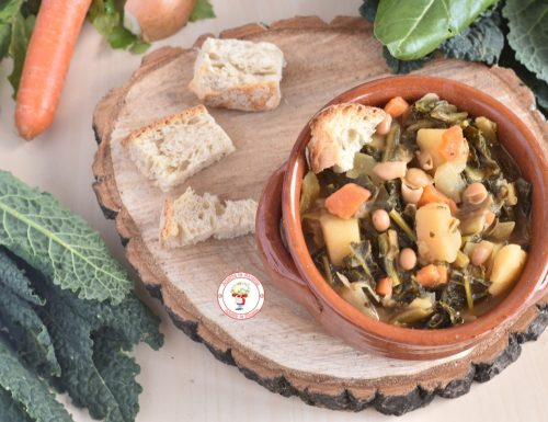 Zuppa Ribollita veloce con verdure e fagioli