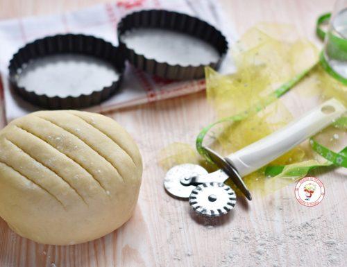 Pasta frolla senza uova facile da stendere