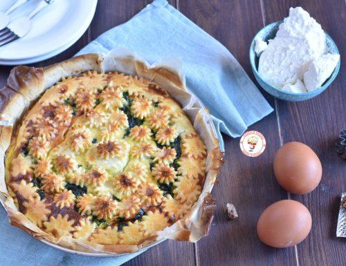 Torta salata con spinaci e crema di ricotta