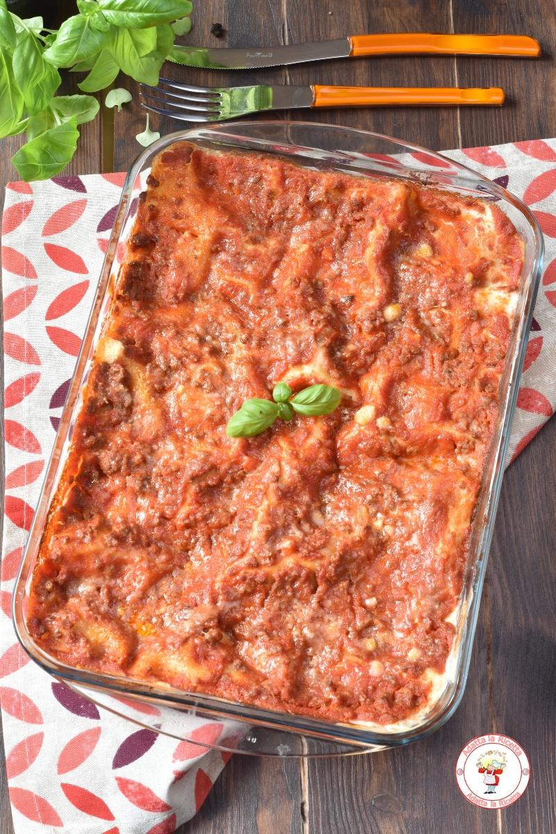lasagna bolognese con sfoglia secca semplice e veloce