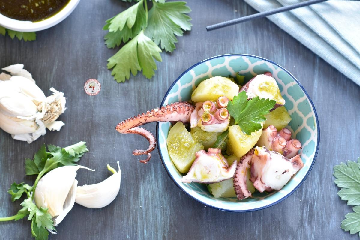 polpo e patate con salsa verde