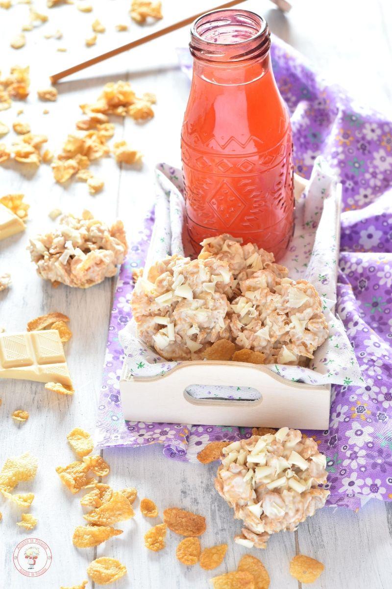 Biscotti rose del deserto al cioccolato bianco