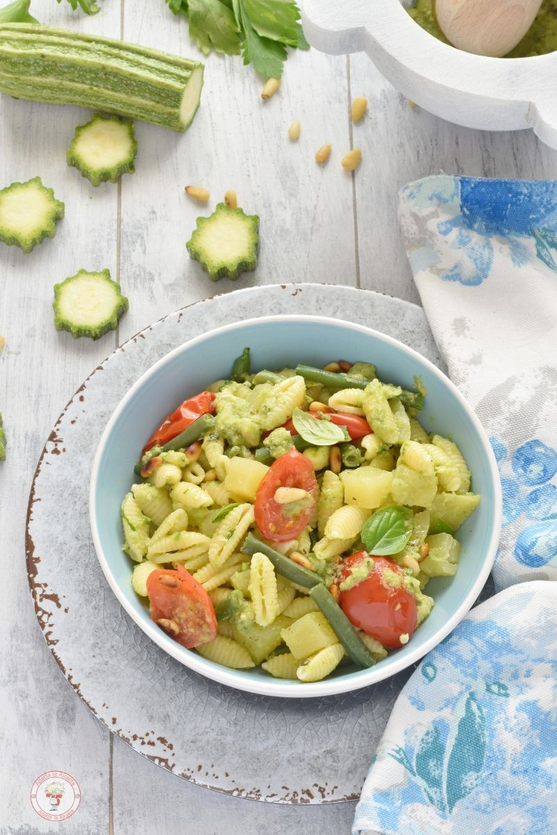 insalata di pasta fredda sfiziosa e leggera