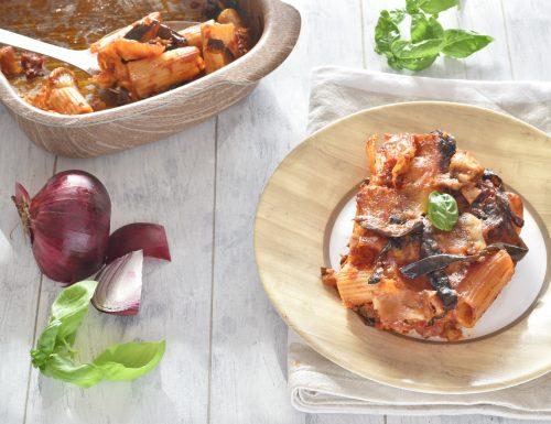 Pasta al forno con melanzane e mozzrella (tipo Norma)