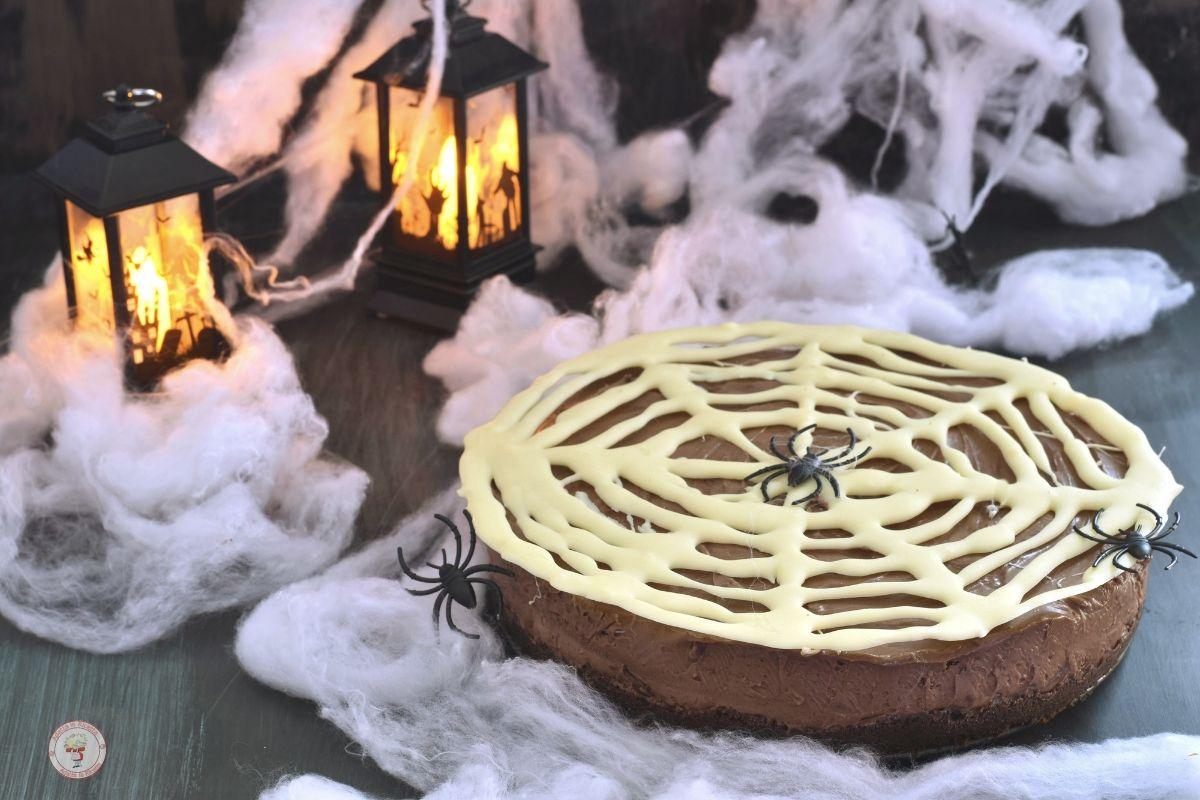 cheesecake nutella e mascarpone per halloween