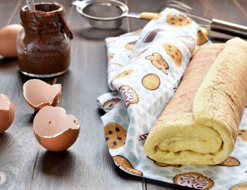 Pasta biscotto per rotolo dolce e tronchetto di Natale