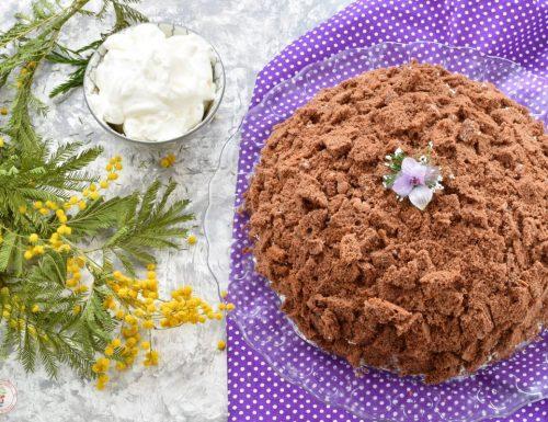 Mimosa al cacao con crema al mascarpone