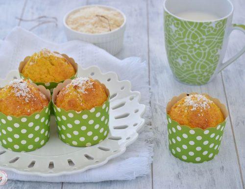 Muffin di carote e cocco senza burro
