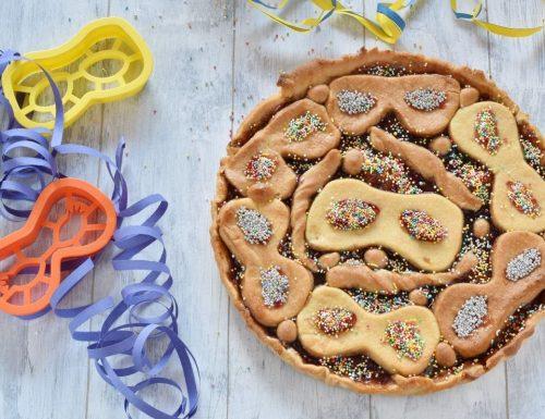 Crostata di Carnevale con pasta frolla senza burro
