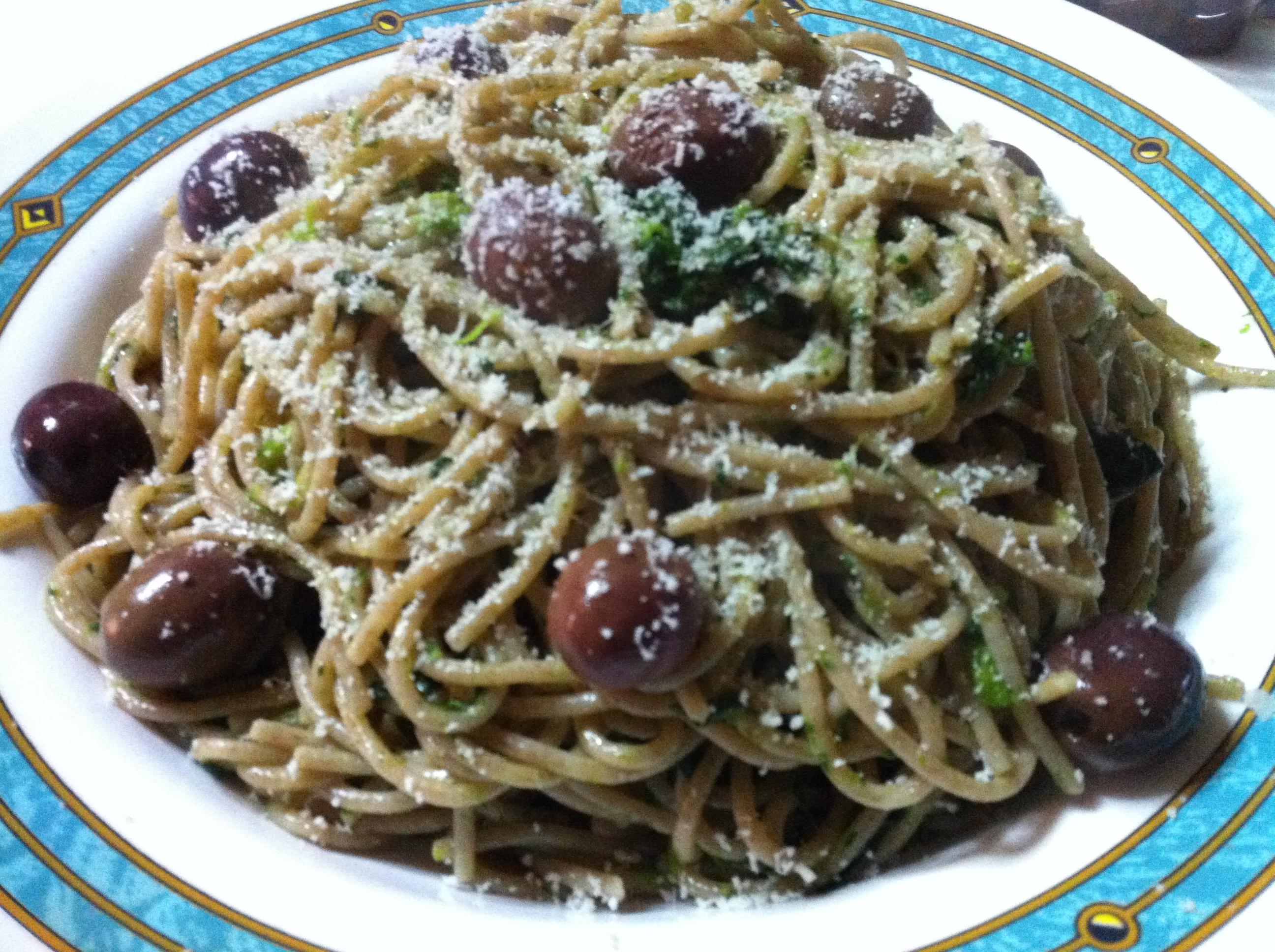 spaghetti di farro con friarielli
