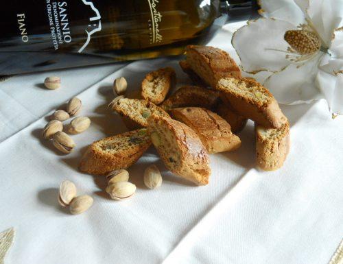 Cantucci pistacchio e cedro,ricetta dolce