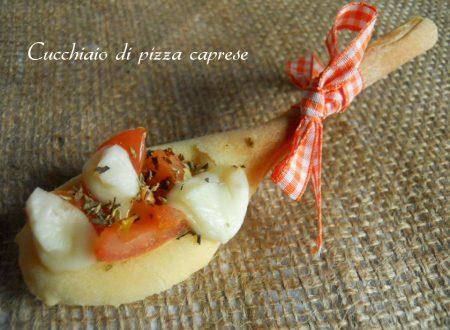 Cucchiaio di pizza caprese, ricetta finger food