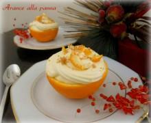 Arance alla panna, ricetta dessert