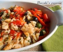 Baccalà e peperoni, secondo di pesce