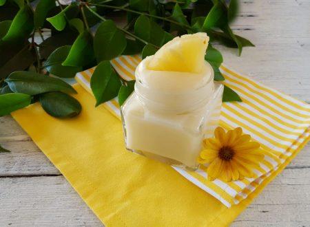 Crema all'ananas senza uova