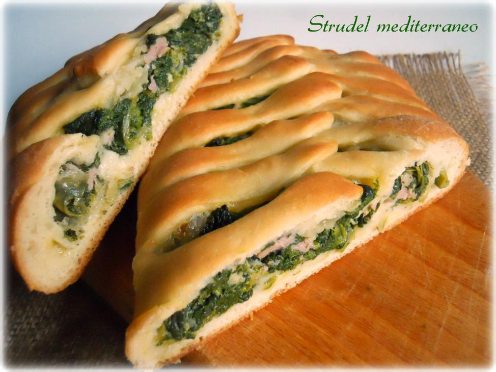 Strudel mediterraneo, ricetta lievitata