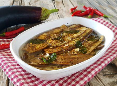 Melanzane grigliate aromatizzate ricetta contorno
