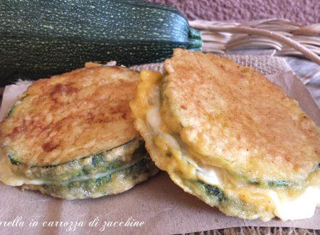 Mozzarella in carrozza di zucchina facile e filante