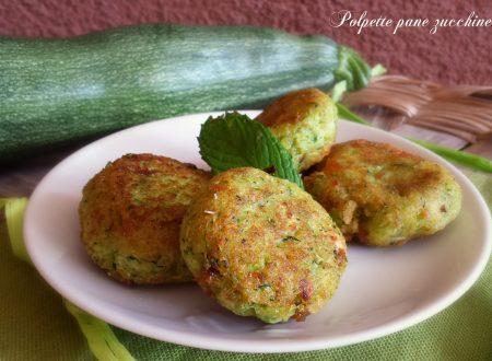 Polpette pane zucchine e ricotta senza uova