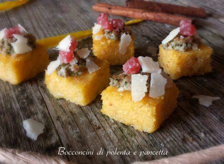 Cubotti di polenta e pancetta