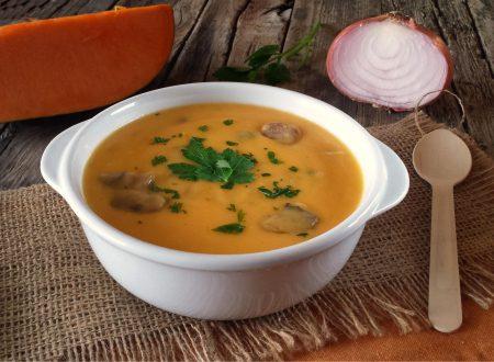 Vellutata zucca patate e funghi ottimo comfort food
